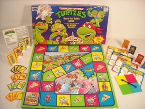1990 Mutant Ninja Turtles Ready for Battle Board Game Rose Art