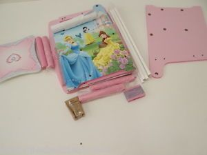 Disney Princess Art Table with Paper Roll Wipe Board and Storage Large Storage