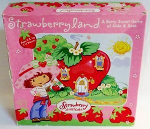 Strawberry Shortcake Strawberryland Board Game Vintage Rose Art Best Friend 3140