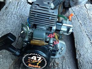 Large Gas 2 Stroke Engine Tanaka 47cc 1 4 1 5 Scale RC Drag Boat Truck Buggy
