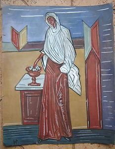 Russian Icon Painting Art on Paper 1