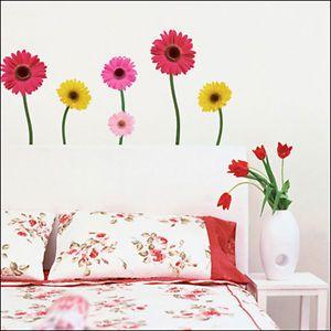 Daisy Flower Decor Mural Art Wall Paper Sticker WST 03