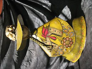Vintage Mexican Folk Art Sermel Mexico Paper Mache Doll Mid Centurty Female Dove
