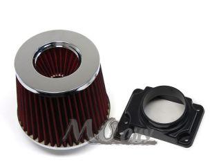 Air Intake MAF Sensor Adapter Filter Kit for Mitsubishi 91 99 3000gt NT VR4 94