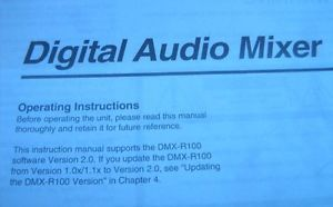 Sony DMX R100 Digital Audio Mixer Operating Instruction User Guide Manual