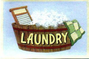 Wood Retro Primitive Vintage Laundry Tub Scrub Board Sign Country Folk Art Decor