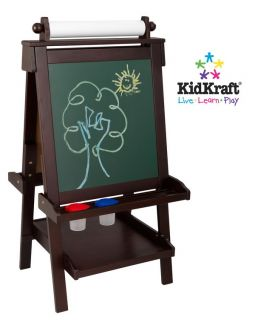 New Kids Wood Art Easel Paper Chalk White Board Wooden