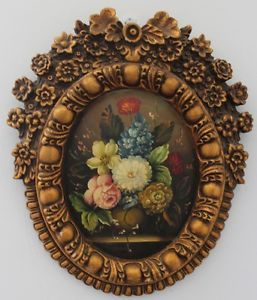 Old Master Art Antique Frame Oil Painting Art Classical Flower on Board