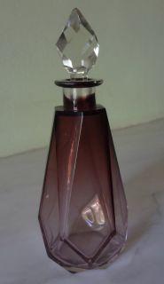 Antique Moser or Baccarat Art Deco Perfume Bottles Jewelry Box Vanity Set 3 Pcs
