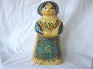 Vintage Mexican Folk Art Paper Mache Gemma Taccogna Figures Woman 1