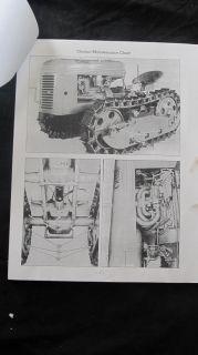 Original Cletrac HG 42 Tractor Service Manual Book Catalog