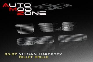 95 97 Nissan Hardbody Pickup Billet Grille Grill Combo