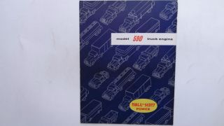 1950's Hall Scott Model 590 Truck Engine Original Sales Brochure