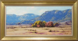 Gercken Hartley NSW Australian Landscape Farm Sheep Original Art Oil Painting