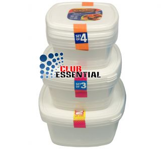High Quality Plastic Food Container Storage Box Set with Lid 500ml 1000ml 1500ml