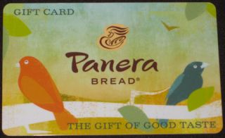 "Panera Bread ""Birds"" Collectible Gift Card No Value New 2012"