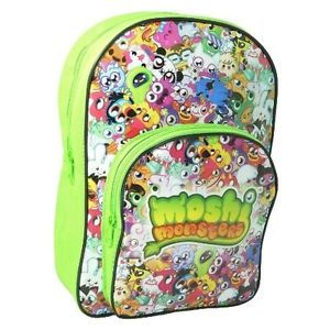 Moshi Monsters 'Buddy Gang' PVC Front School Bag Rucksack Backpack Brand New
