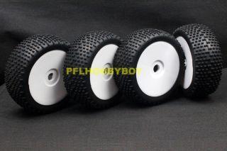 A0424 4X 1 8 Buggy Tires for HSP RC Car 17mm Hub Wheel Rim Tires