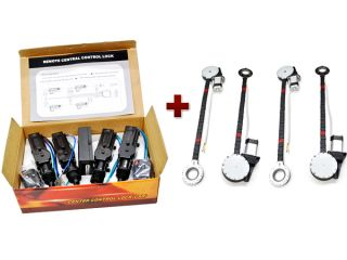 4 Door Car Power Window Lock Unlock Conversion Kit for Automatic Keyless Entry