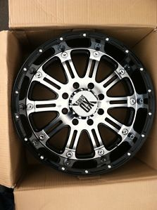 "20"" Black Machine Wheels Tires 6x135 Ford F150 275 55 20 Falken Wild Peak XD Hos"