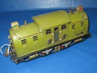 Antique Vintage Pre War Lionel Train 254 Locomotive Olive Green O Gauge