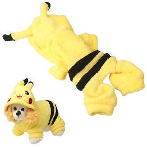 Pikachu Hoodie Dog Clothes Happy Puppy Soft Apparel Costume T Shirt Pet Gift