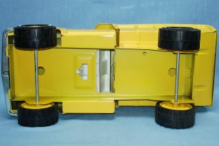 Tonka Toys 2315 Construction Yellow Metal Dump Truck XR 101 Tires Brown Box