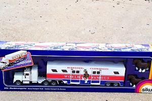 Siku Budweiser Clydesdales Horse Trailer Transporter Truck 1 55 Beer