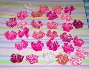Dog Grooming Bows 30 Double Looped Pink Dog Bows Yorkie Shih Tzu Maltese Poodle