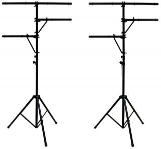 2 Pro Audio DJ Multi Arm 8 Bolt Lighting 12 Foot Tripod Light Stand Package