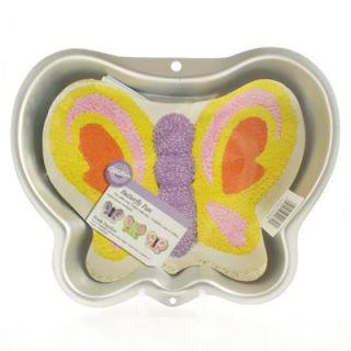 Wilton Butterfly Aluminium Cake Tin Pan Girl Birthday Cake Decorating