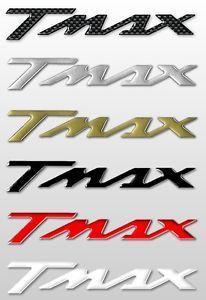 2 Adesivi Stickers in Resina 3D Scritta TMAX per Scooter x Moto Yamaha T Max 500