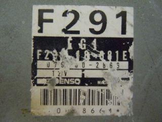 90 91 92 Mazda MX 6 626 Engine Computer ECM ECU PCM F29118881E