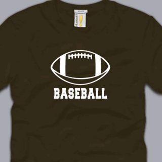 Football Baseball 2XL T Shirt Funny Humor Awesome Nerd Cool Sports Tee XXL