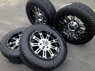 "20"" Black Wheels Tires Dodge Truck RAM 1500 20x9 Mirror Black 20 inch Rims"