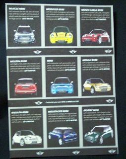 """Mini Cooper Let's Motor """"Rat Fink Hot Rod Style"""" Stickers Cards"""