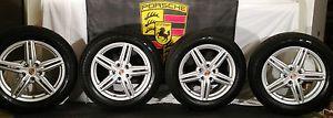 "4 Porsche Factory OEM 19"" Wheels Tires Cayenne Design II Goodyear LS Tires TPMS"