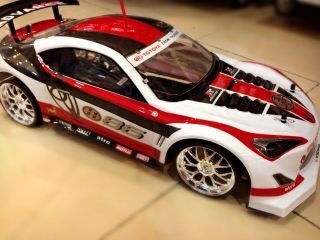 Excellent Gift Remote Control 1 10 RC Drift Car Two Battery with Turbo w Red