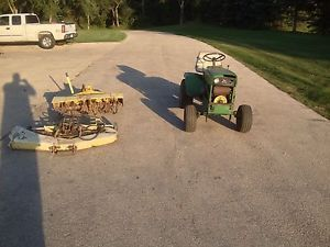 John Deere 140 H1 Garden Tractor Mower Deck Tiller for Parts