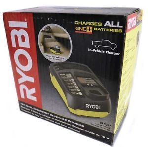 Ryobi P131 18V Dual Chemistry in Vehicle Battery Charger New Automotive Car DC