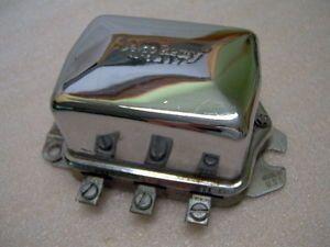 Harley Davidson Chrome Delco Remy Mechanical Voltage Regulator Assembly USA