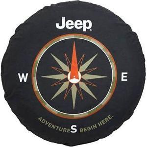 2011 2012 Jeep JK Wrangler Spare Tire Cover Adventure Begins Mopar 82210884AB