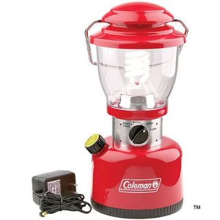 New Coleman Retro Rechargeable Battery Powered Lantern Family Size 076501221411