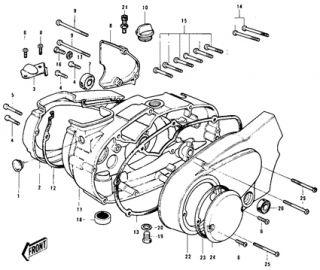 Genuine Kawasaki G3SS G3TR KE100 G7 KH100 Engine Crank Case Generator Cover