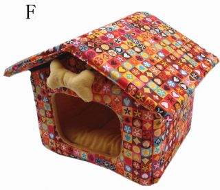 Retractable Foldable Small Dog Puppy Pet Cat Indoor Slepping House Kennel Bed