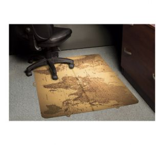 ES Robbins Design Series World Map Carpet Foldable Chairmat