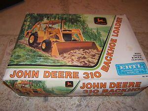 Vintage Ertl John Deere 310 Backhoe Loader Tractor 8015 Extra Parts 2 Kits