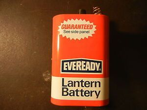 Vintage Eveready 6 Volt Lantern Battery No 509 Neda 908