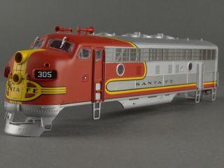 DTD HO Intermountain ATSF 305 F7 F7A Unit Diesel Engine Shell Kit Santa FE
