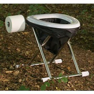 New Portable Potty Toilet Hiking Camping Recreation w Seat Commode Safety Throne